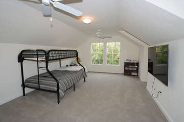 Bonus Room that Leads Down to Laundry Area with 2 Twin Bunk Beds