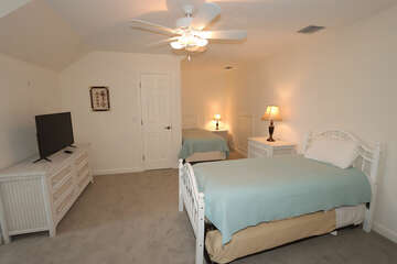 Upstairs Guest Bedroom with 2 Twin beds and a Twin Trundle Pull Out