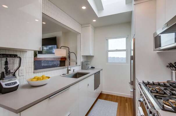 Brand New Kitchen  with oven, sink and fridge