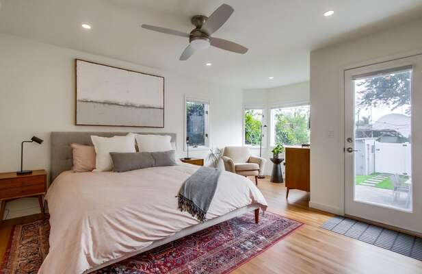 This rental's Master Bedroom features a King Bed