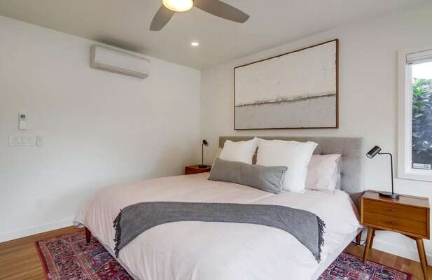 A/C and Ceiling Fan in Master