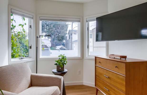 Reading Nook and Flat Screen Smart TV