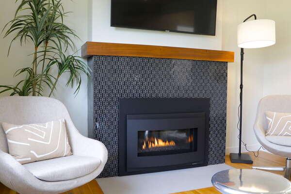 Custom Fireplace in Living Room