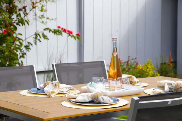 Outdoor Dining at this Pacific Beach Home Rental