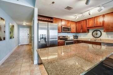 Entryway/Kitchen view