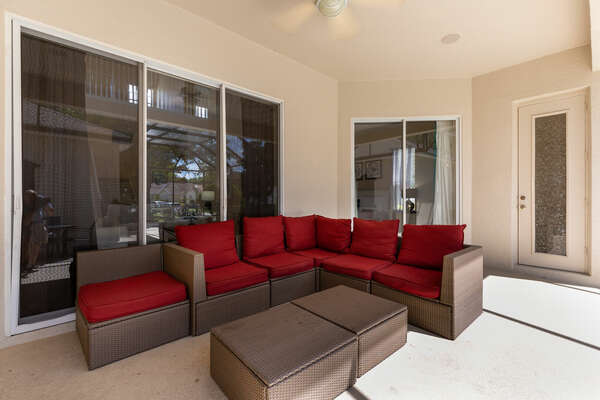 Relax by the pool in the  comfortable lounge seating