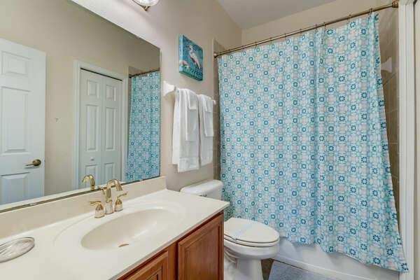 The hallway bathroom