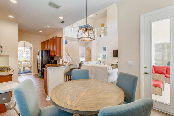 Plan your day with a cup of coffee at the breakfast nook
