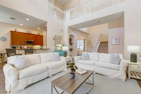 The living area leads right out to the private patio