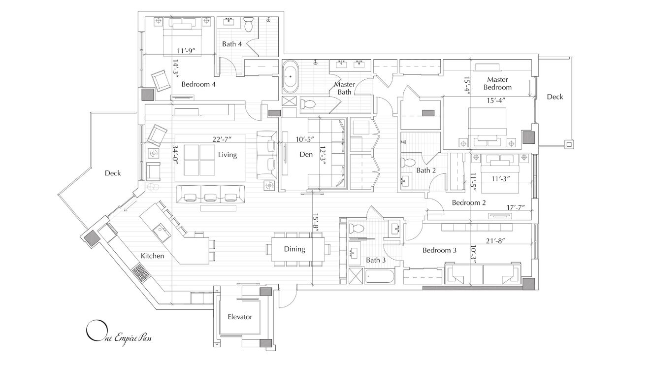 One Empire Pass B Floor Plan