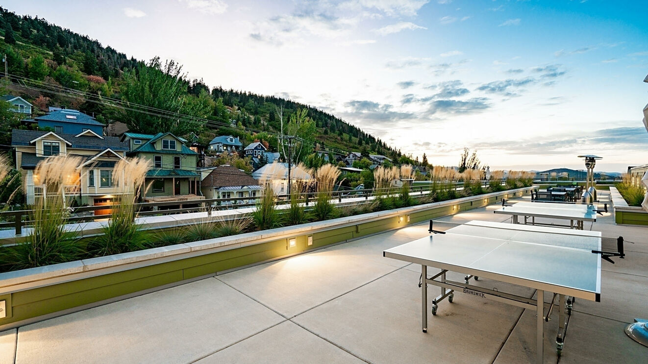 Parkite on Main Common Area Rooftop Ping Pong