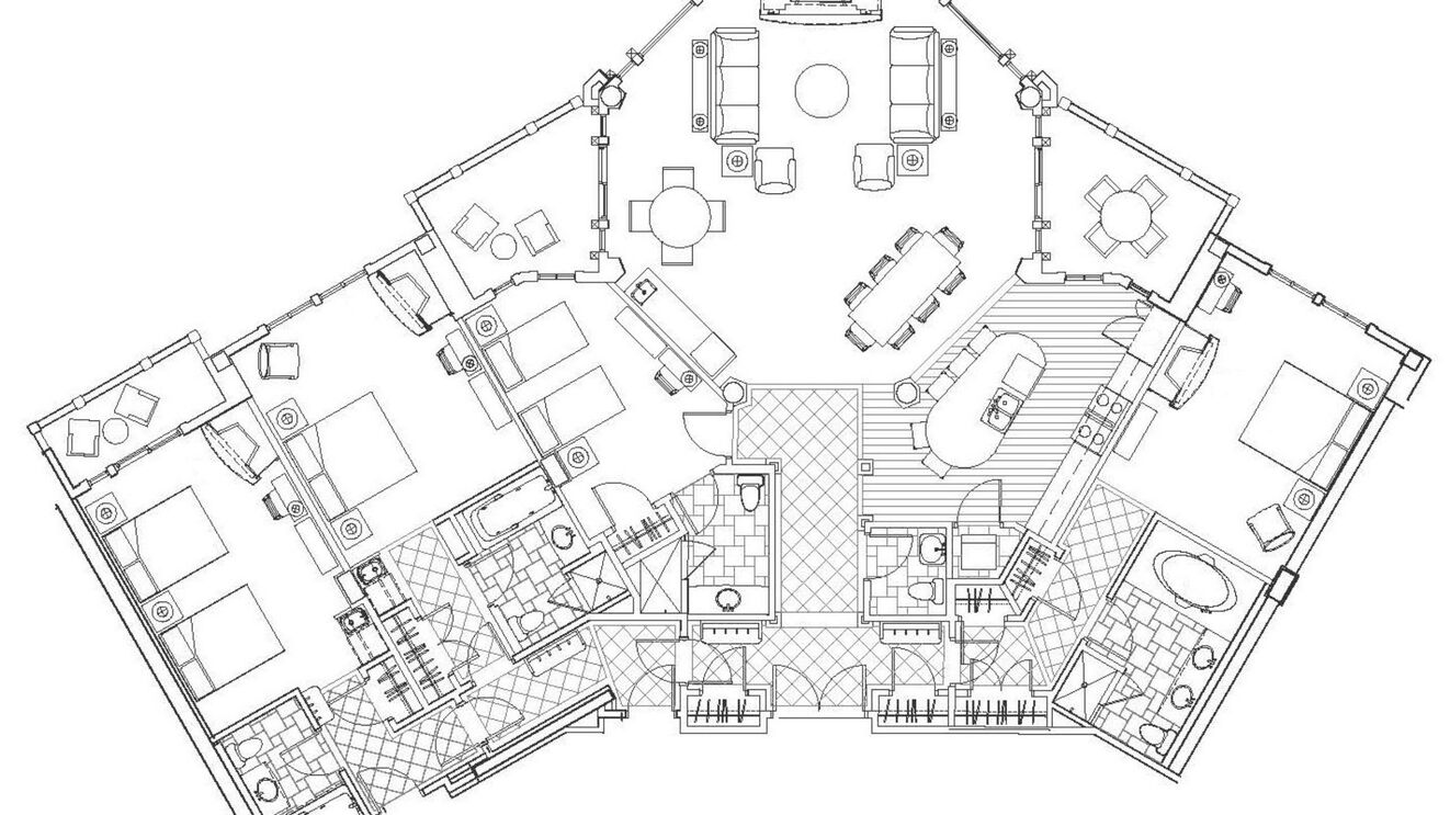 Penthouse Mountain: Hyatt Centric Floor Plan