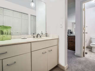 Master bath with separate vanity area
