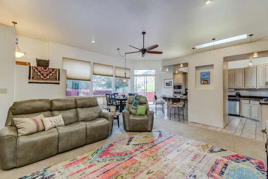 Great Room - Living Room, Kitchen and Dining Area - An Open and Airy Space