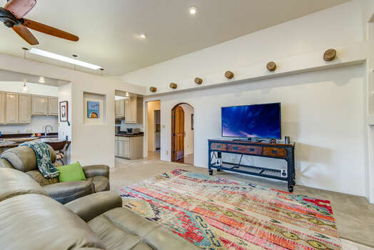 Comfortable Living Room with a Smart TV