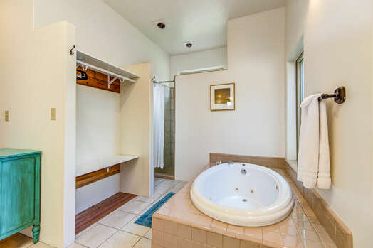 Jetted Tub, Open Closet and Separate Shower