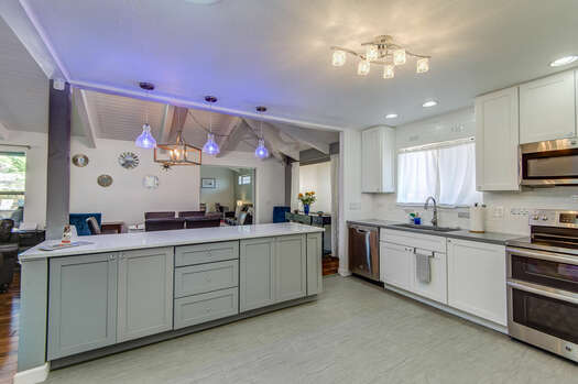 Kitchen with a Large Center Island - Great for Meal Prep or Entertaining