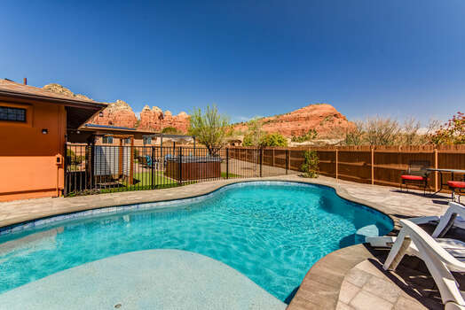 Enjoy the Views While You Cool Off in the New Pool