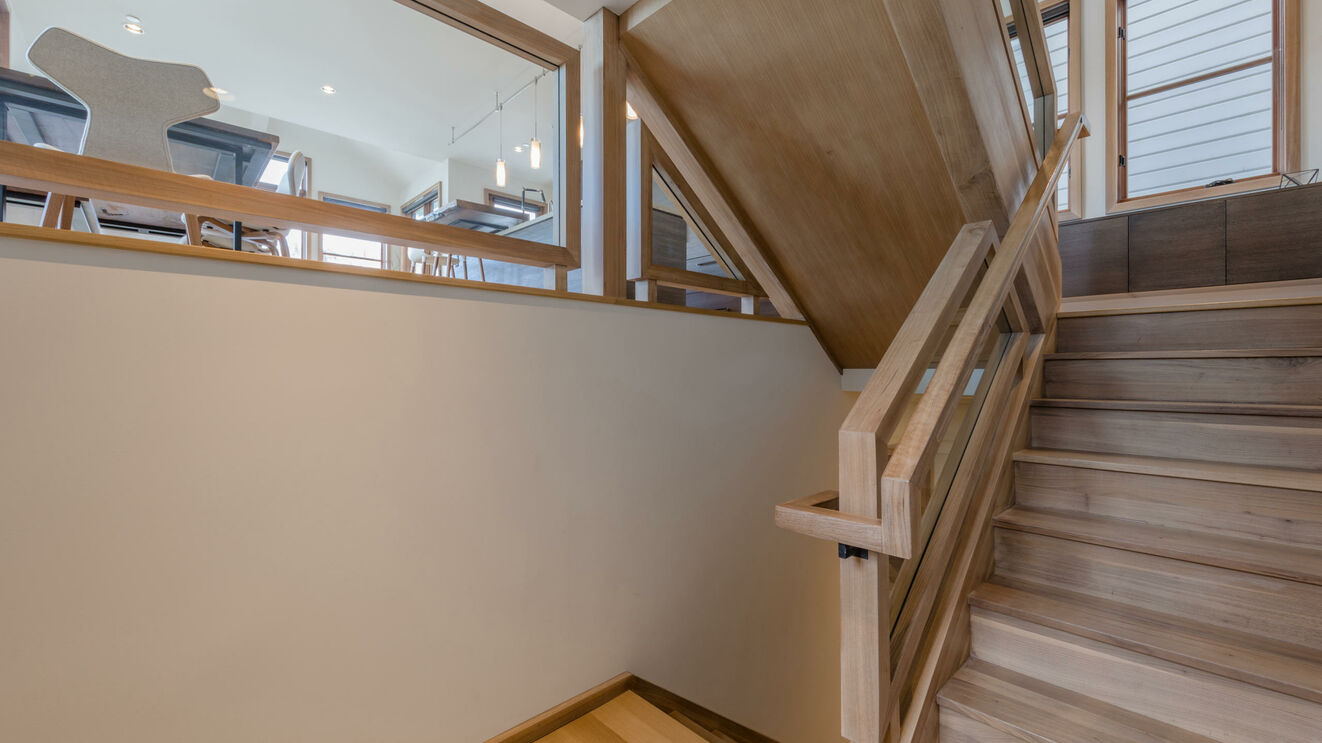 Stairway to Family Room from Main Level