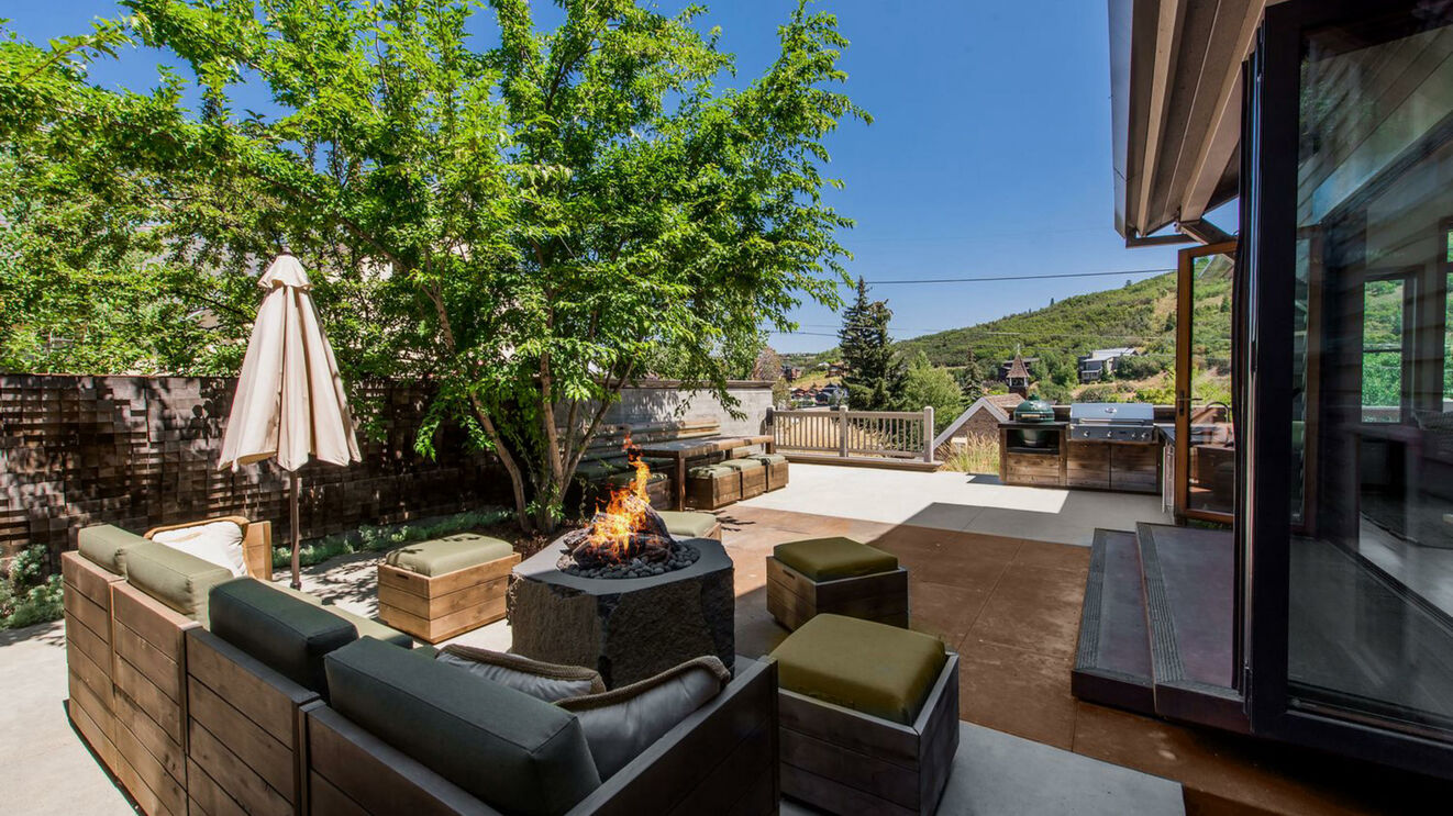 Patio with Fire Pit & Outdoor Living Area