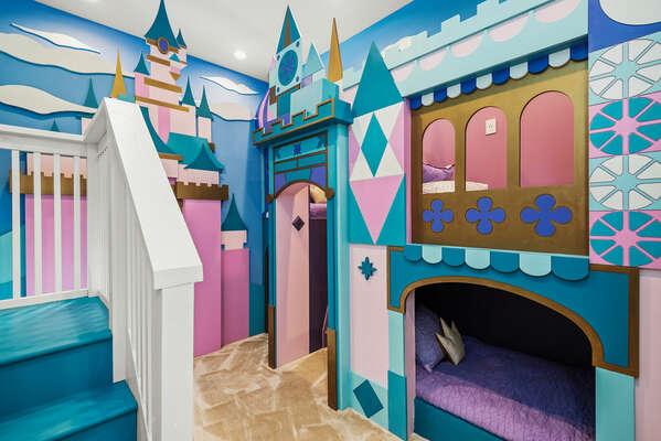 Princess-themed bedroom