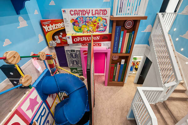 There is so much to see within the Toy-Land themed playroom
