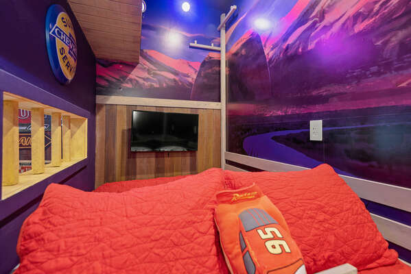 Each bed has its own SMART TV
