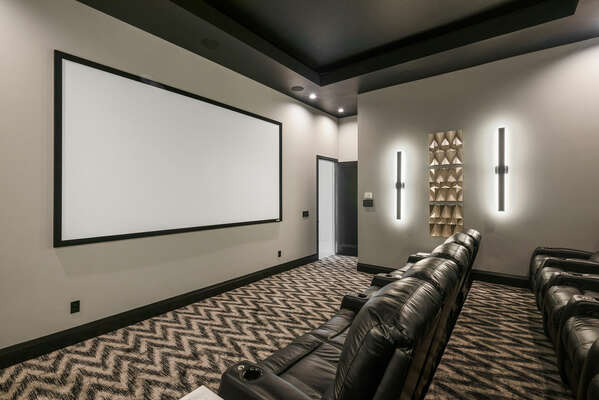 Don't forget the popcorn as you experience all the fun of the movies in your own home