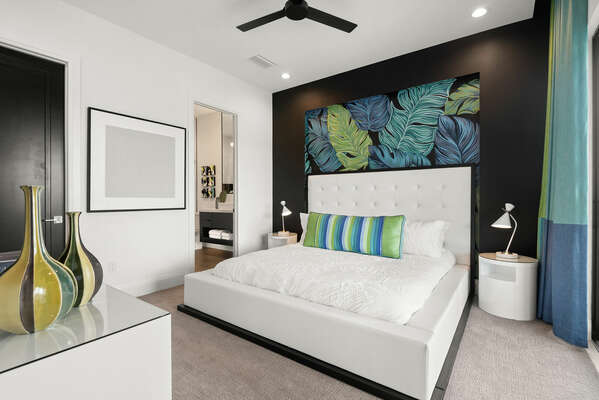 Master Suite furnished with a king-size bed