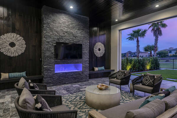 Sit on the patio and relax after a day of touring Orlando