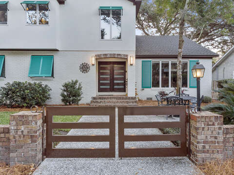 Gated Entrance to Rental
