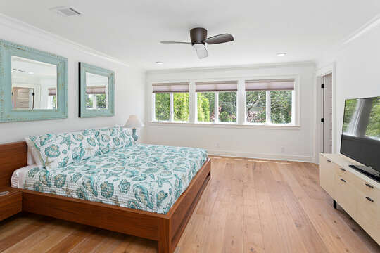 Bedroom with King Bed and TV