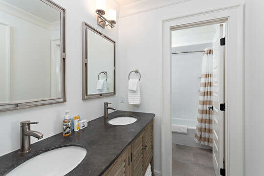 Full Bathroom with separate Walk-In Shower