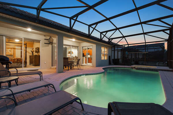 Evenings spent poolside are a great way to relax