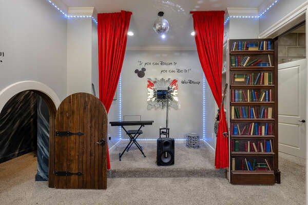 The magic is alive in this playroom between the kids bedrooms
