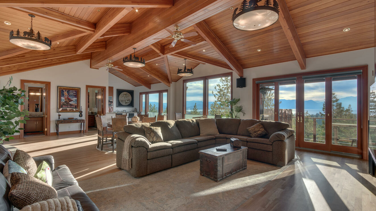 Living Room with Stunning Lake Views