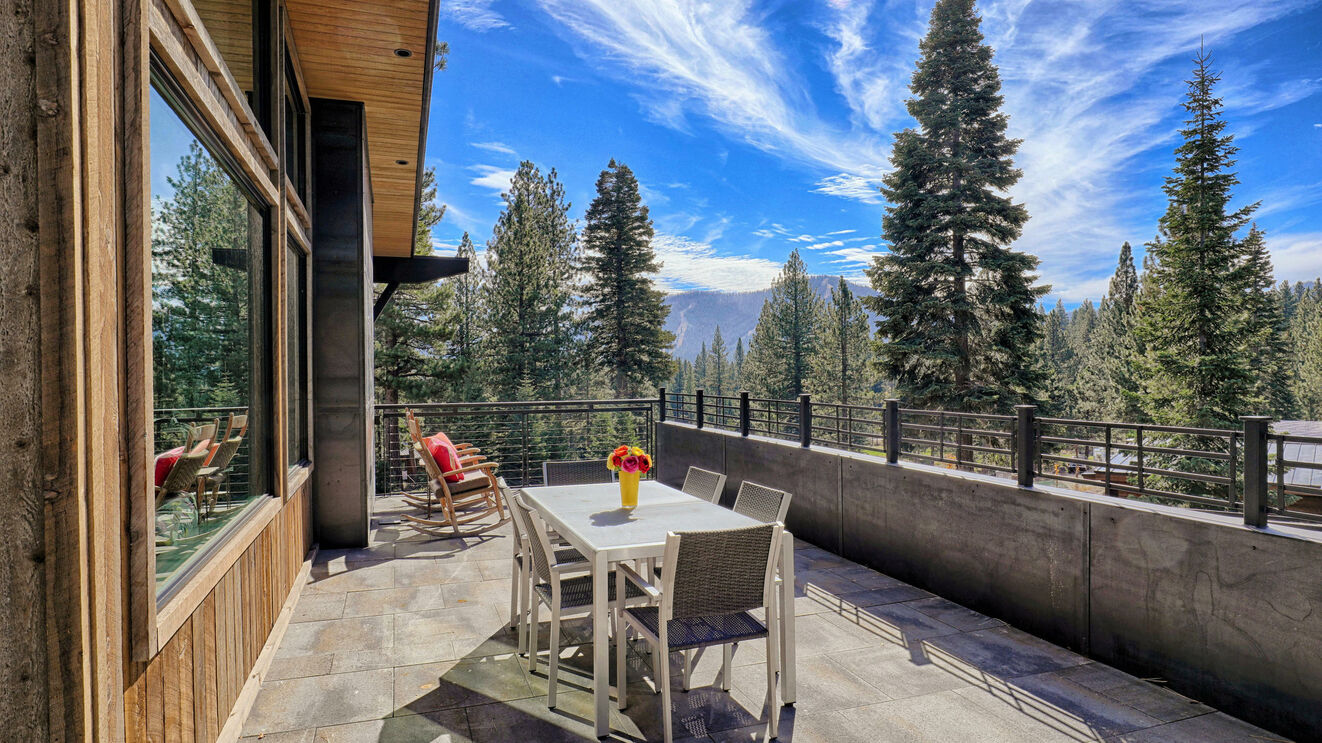 Outdoor Dining with View of Northstar Ski Resort
