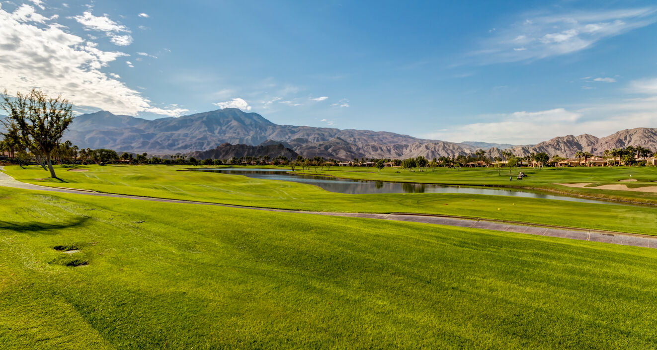 Black Diamond: PGA West is found right on the fairway and features gorgeous mountain views