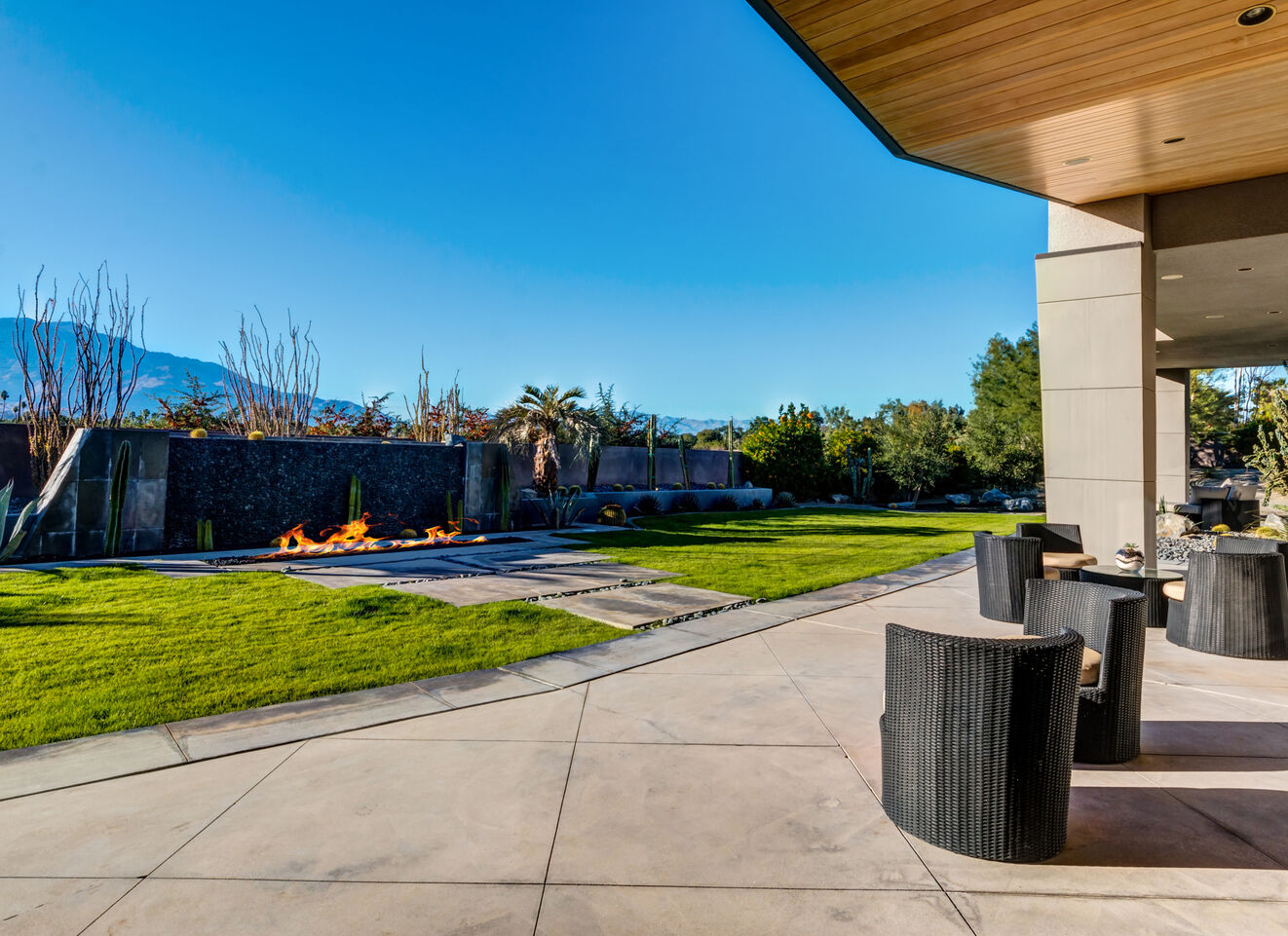 Outdoor Living Area & Fire Pit