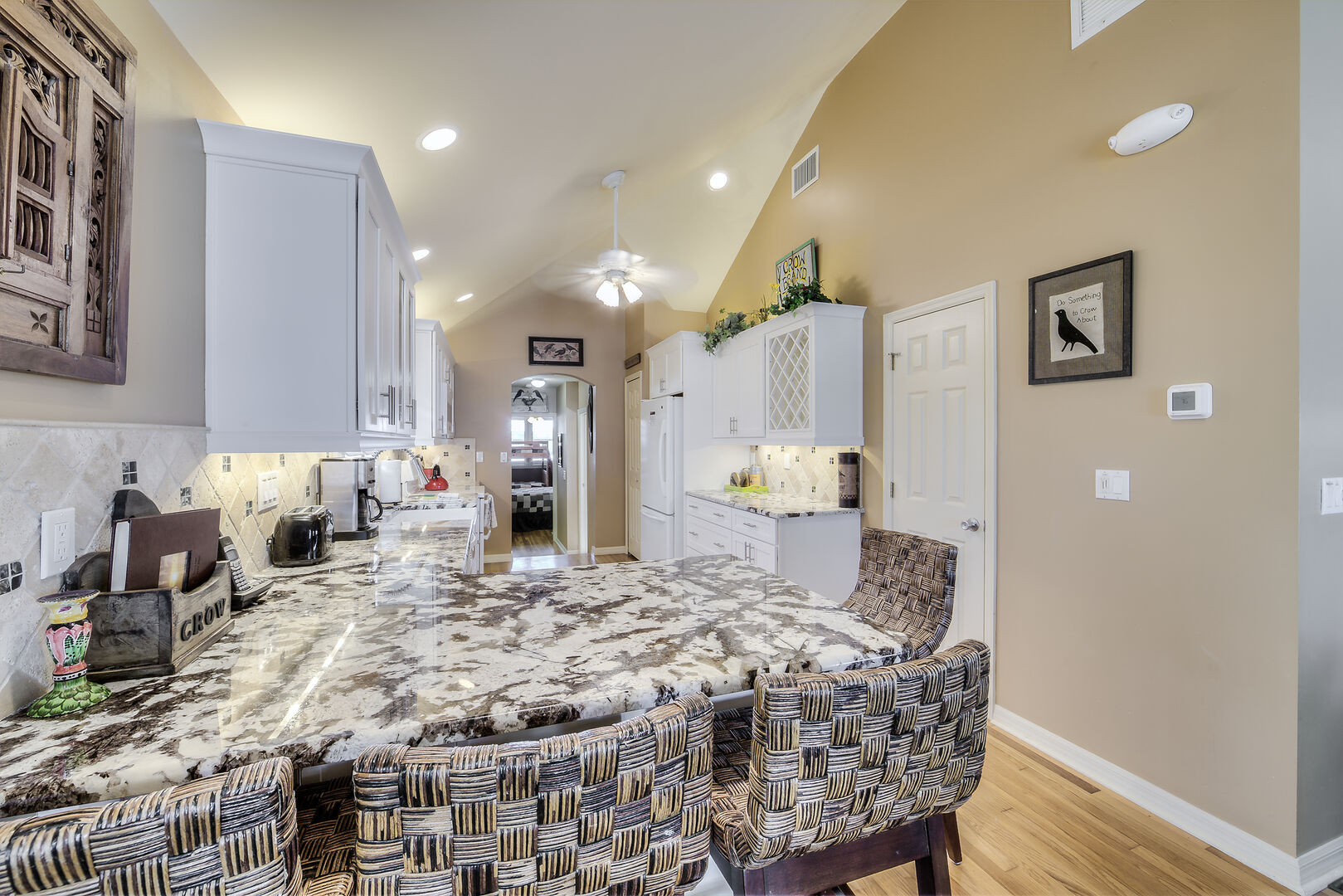 Large Kitchen and Seating Area Fort Myers Beach Rental