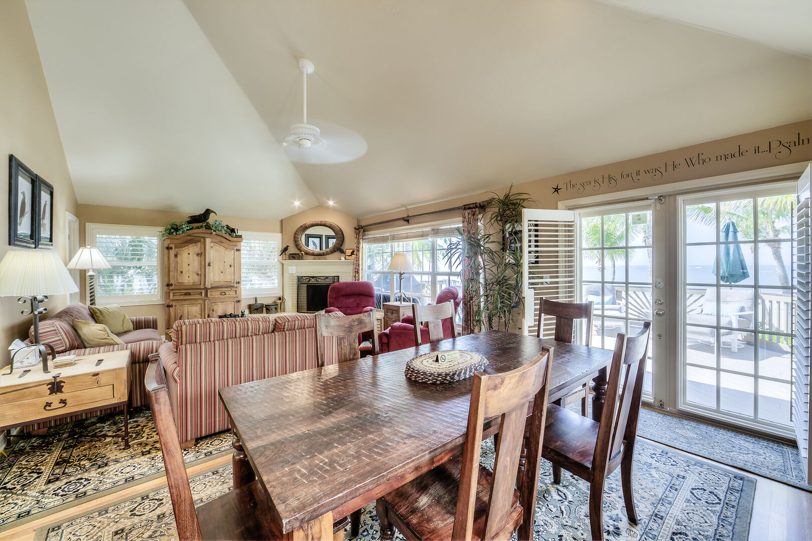 Dining and Livingroom Area in the Crow's Nest Fort Myers Beach Rental