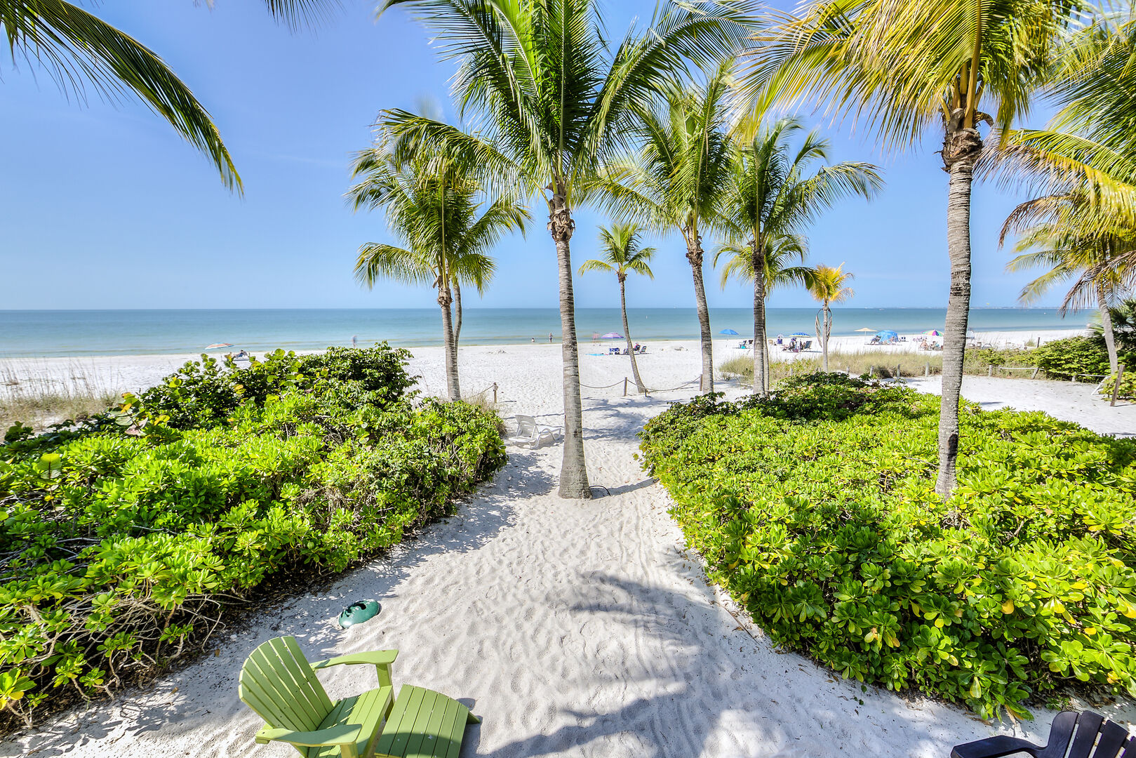 Beachfront View from this Fort Myers Beach Rental