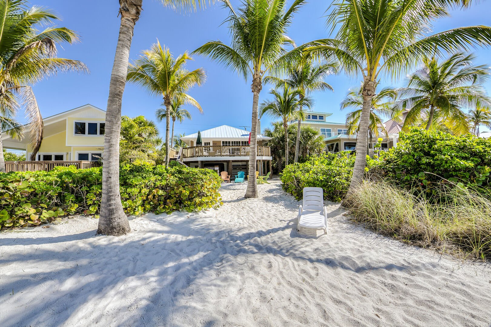 View of the Crow's Nest from the Beach Fort Myers Beach Rental