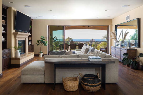 Image of Deluxe Living Room with Panoramic Views.