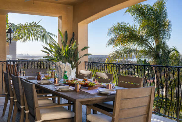 Outdoor Dining Area in San Diego Vacation Rental.