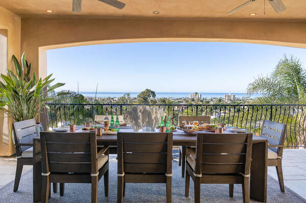 Image of Outdoor Dining and Panoramic Views.