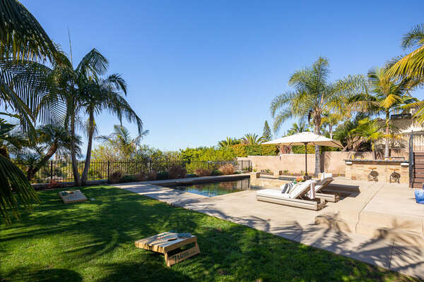Expansive Backyard is Great for Entertaining.