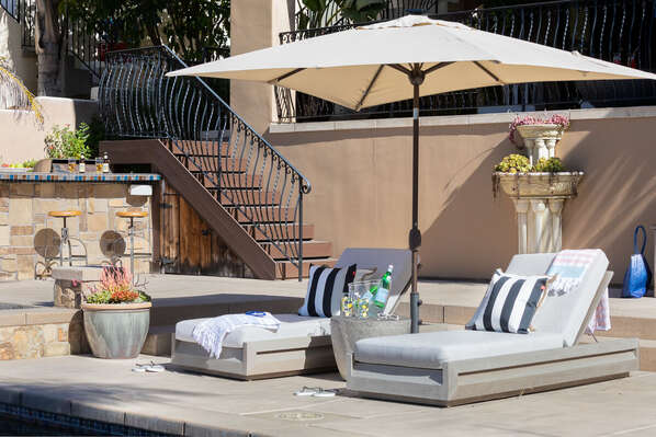 Soak Up the Sun on Two Lounge Chairs.