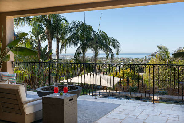 Enjoy Ocean Views From Outside Balcony.