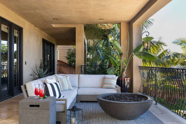 Image of Outdoor Living Room with Fire Pit.